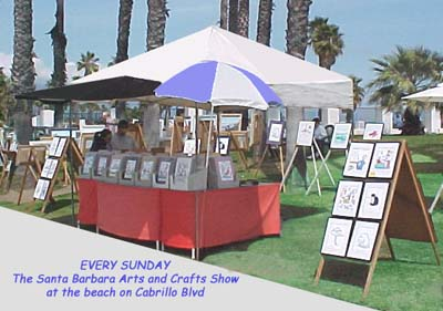 Mike Champe - Art Display - Santa Barbara